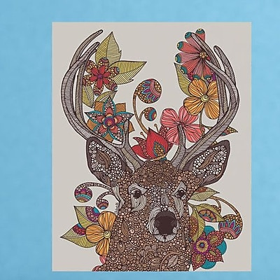 My Wonderful Walls Floral Deer Art Wall Decal; Large