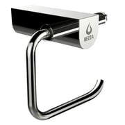 Nezza Contemporary Wall Mounted Bathroom Roll Holder; Chrome