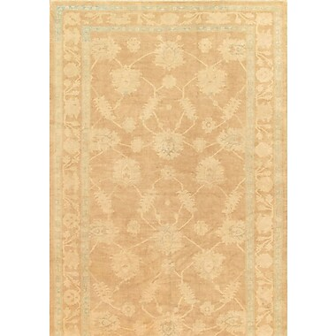 Pasargad Oushak Hand-Knotted Light Brown Area Rug