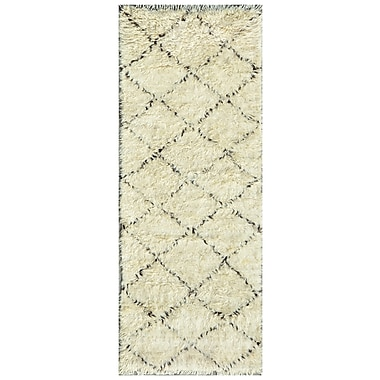 Pasargad Moroccan Hand-Knotted Ivory Outdoor Area Rug