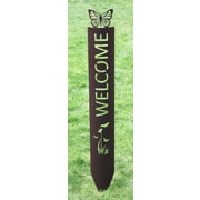 Majestic MFG Butterfly Garden Sign; Dark Bronze