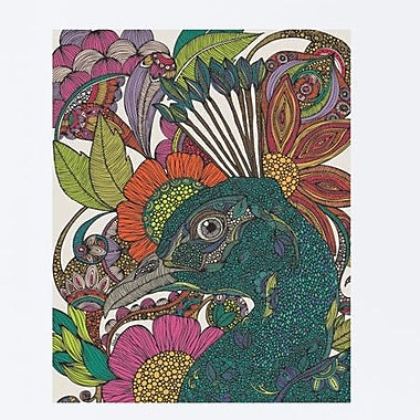 My Wonderful Walls Floral Peacock Art Wall Decal; Large