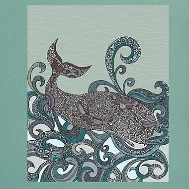 My Wonderful Walls Whale Ocean Animal Art Wall Decal; Large