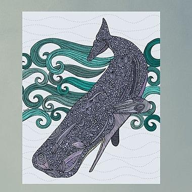 My Wonderful Walls Diving Whale Ocean Art Wall Decal; Medium