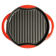 Chasseur 10'' Grill Pan; Flame Red