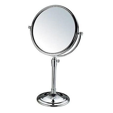AdecoTrading Round Double Sided Table Top Swivel Cosmetic Makeup Mirror