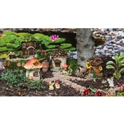 Evergreen Enterprises, Inc Fairy House 4 Piece Fairy Garden Set