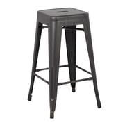 AC Pacific 30'' Bar Stool (Set of 2); Sand Matte Black