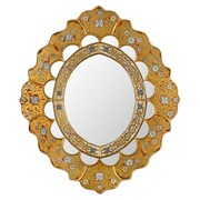 Novica Asunta Pelaez Sweet Flower Majesty Mirror