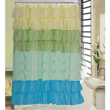 Daniels Bath Shower Curtain; Green