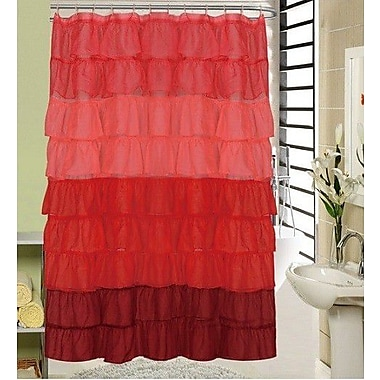 Daniels Bath Shower Curtain; Red