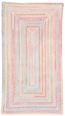 Capel Baby's Breath Pink Area Rug; Concentric Square 7'6''