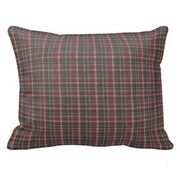 Patch Magic Maroon Red and Black Plaid Pillow Sham
