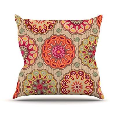 KESS InHouse Festival Folklore Throw Pillow; 20'' H x 20'' W