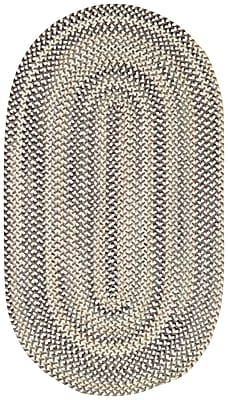 Capel Sherwood Forest Smoke Area Rug; Concentric 7' x 9'