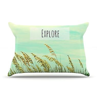 KESS InHouse Explore Pillow Case; King