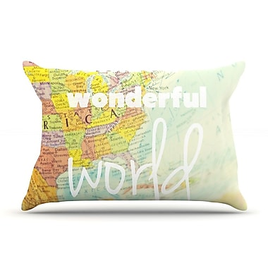 KESS InHouse What A Wonderful World Pillow Case; King