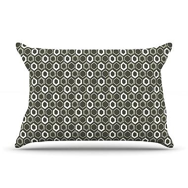 KESS InHouse Hexy Pillow Case; King
