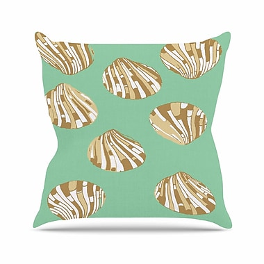 KESS InHouse Scallop Shells Throw Pillow; 26'' H x 26'' W