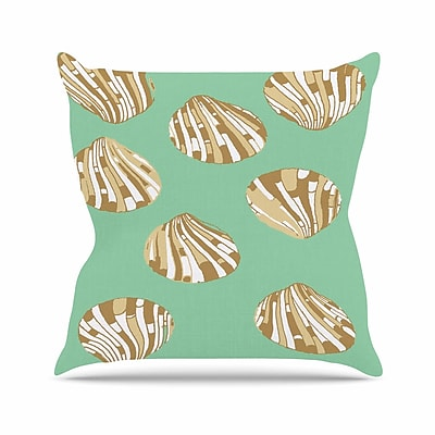 KESS InHouse Scallop Shells Throw Pillow; 20'' H x 20'' W