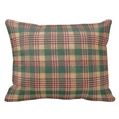 Patch Magic Green and Warm Brown / Red Plaid Pillow Sham