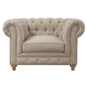 TOV Soho Chesterfield Chair; Beige