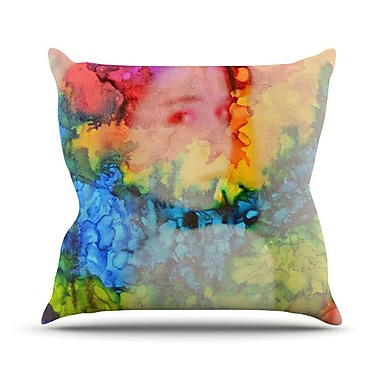 KESS InHouse Rainbow Splatter Throw Pillow; 18'' H x 18'' W