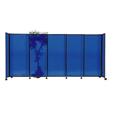 Versare StraightWall 72'' x 135'' Sliding Room Divider; Blue