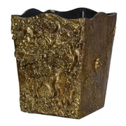 Hickory Manor House Cross Trash Can; Etienne Gold
