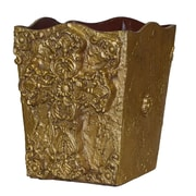 Hickory Manor House Cross Trash Can; Gold Leaf