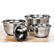 Imperial Home 4 Piece High Quality Stainless Steel Mixing Prep Bowls Set