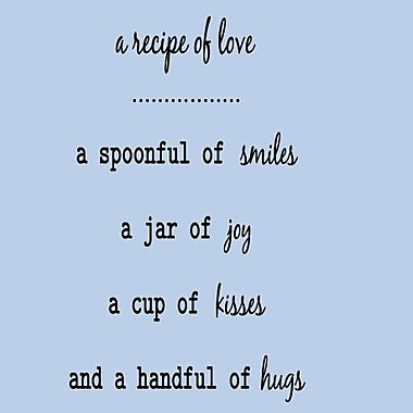 SweetumsWallDecals A Recipie of Love Wall Decal; Black