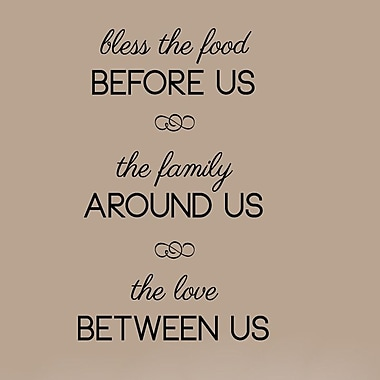 SweetumsWallDecals Bless the Food Before Us Wall Decal; Black