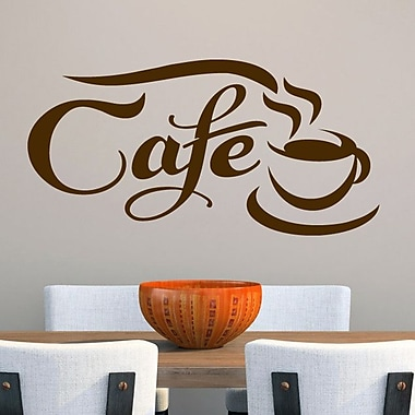 SweetumsWallDecals Cafe Wall Decal; Brown