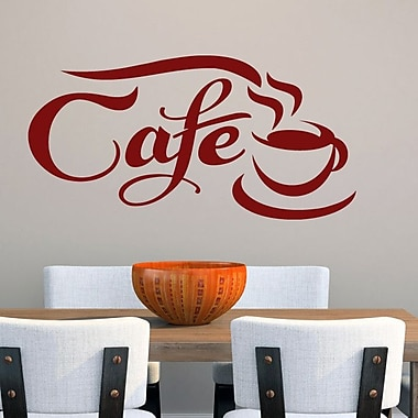 SweetumsWallDecals Cafe Wall Decal; Cranberry
