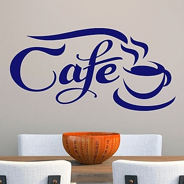 SweetumsWallDecals Cafe Wall Decal; Navy