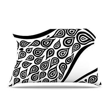 KESS InHouse Bird In Disguise White Pattern Pillow Case; King