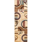 Well Woven Barclay Ivory/Natural Arcs and Shapes Modern Area Rug; Runner 2'7'' x 9'10''