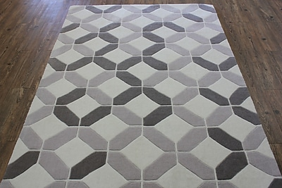 Rug Factory Plus Transition Hand-Tufted Beige Area Rug