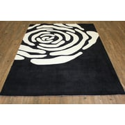 Rug Factory Plus Transition Hand-Tufted Black Area Rug