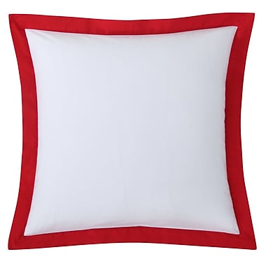 Fiesta Classic Euro Sham; White with Lemongrass Trim