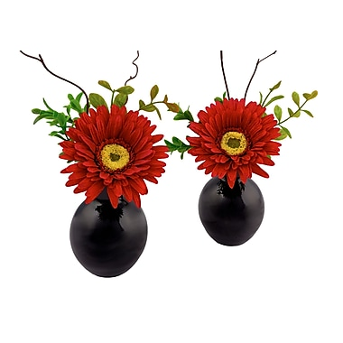 Red Vanilla Gerbera 6.75'' x 5'' Flower Arrangement (Set of 2)