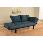 Kodiak Furniture Spacely Convertible Lounger Futon and Mattress; Navy