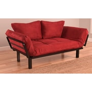 Kodiak Furniture Spacely Convertible Futon and Mattress; Red