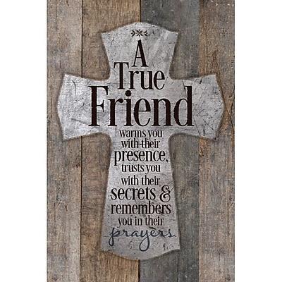 Dexsa A True Friend Warms You New Horizons Textual Art Wood Plaque
