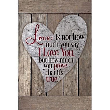 Dexsa Love Is Not How Much You Say New Horizons Textual Art Wood Plaque