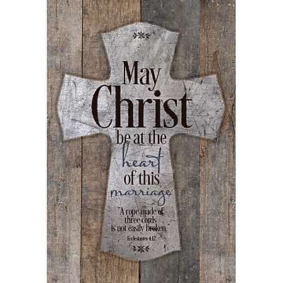 Dexsa May Christ Be At The Heart Of This Mar New Horizons Textual Art Wood Plaque