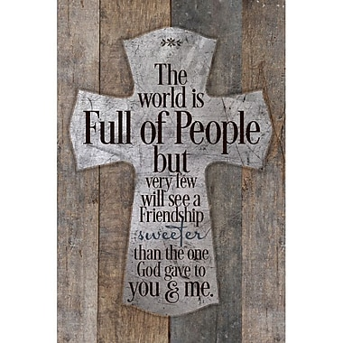 Dexsa The World Is Full Of People New Horizons Textual Art Wood Plaque