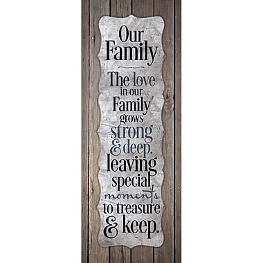 Dexsa Our Family - The Love In Our Fam New Horizons Textual Art Wood Plaque