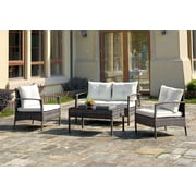 A&J Homes Studio 4 Piece Lounge Seating Group w/ Cushions